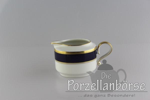 Sahnekännchen - Heinrich - Echt Kobalt - Goldrand